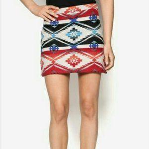 Topshop Petite Navajo Knit Mini Skirt